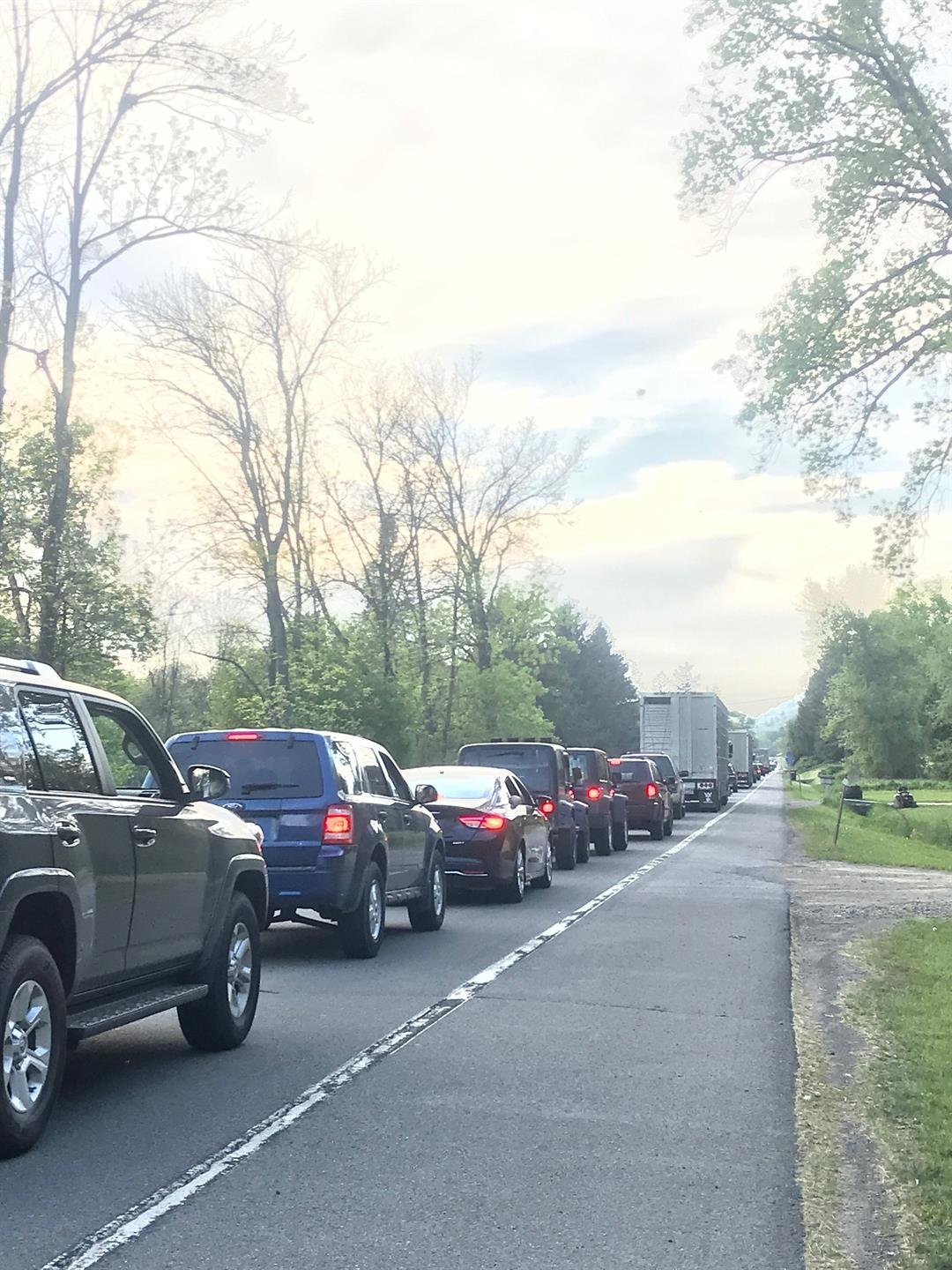 Traffic backed up near accident on Route 415