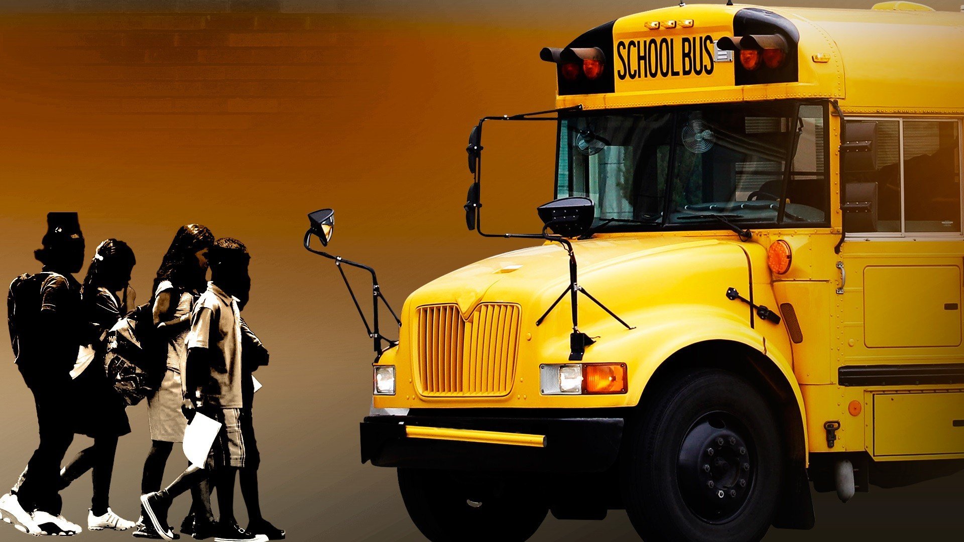 When do you stop for a school bus?