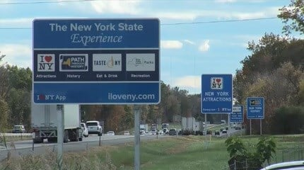 NY to redesign highway signs after feds docked state $14 million