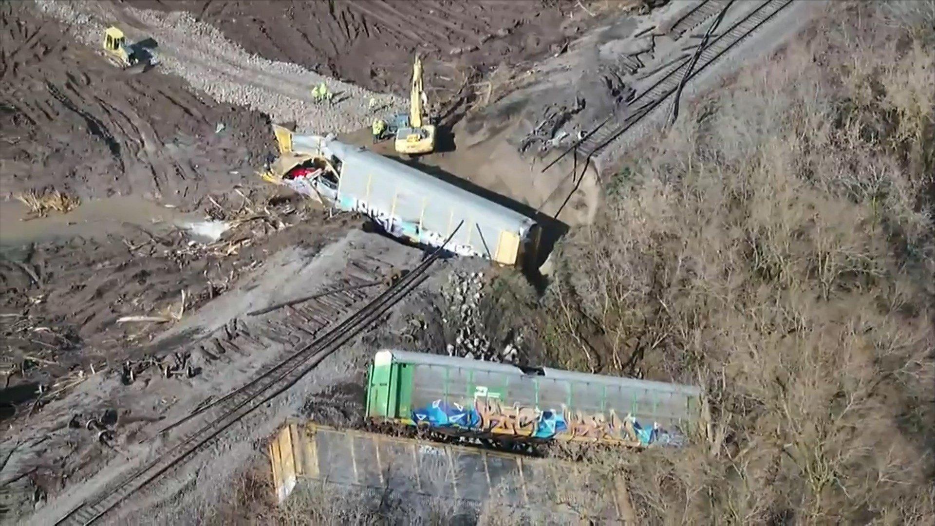 Train derails in Wyoming County