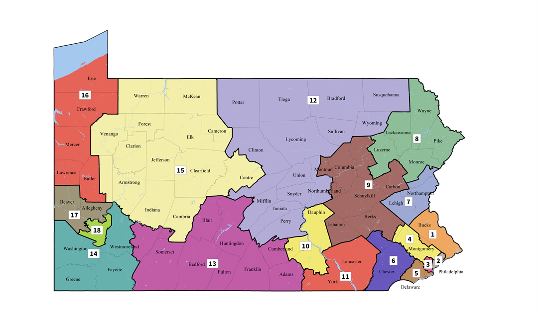 PA Supreme Court Congressional District Map