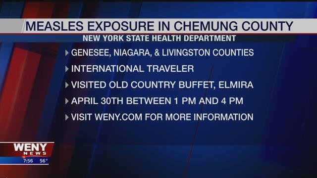 NYS Health Department Warns of Measles Exposure in Chemung County