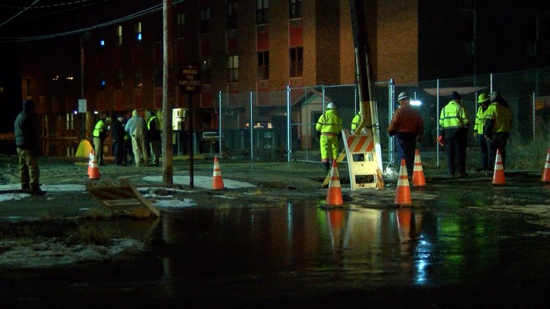 Weny News Crews Work To Fix Water Main Break In City Of Corning