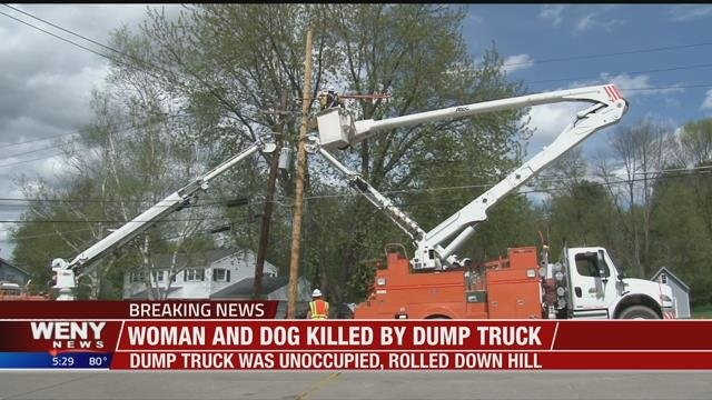 Weny News Woman And Her Dog Struck And Killed By Unoccupied Dump