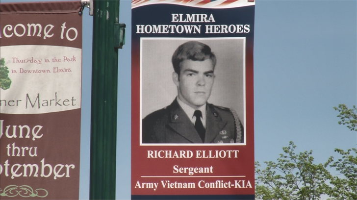 ELMIRA, N.Y. (WENY) - One by one, there are pictures of those who served or  are currently serving our country, hanging from light poles throughout the  city ...