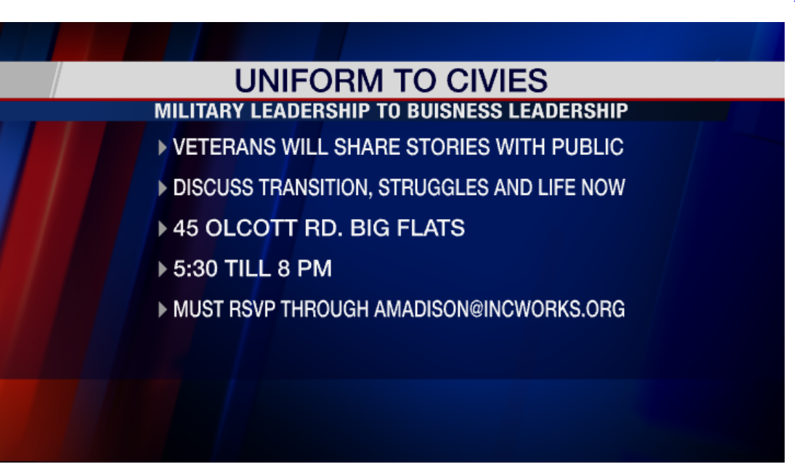 Veterans will share their stories with the public