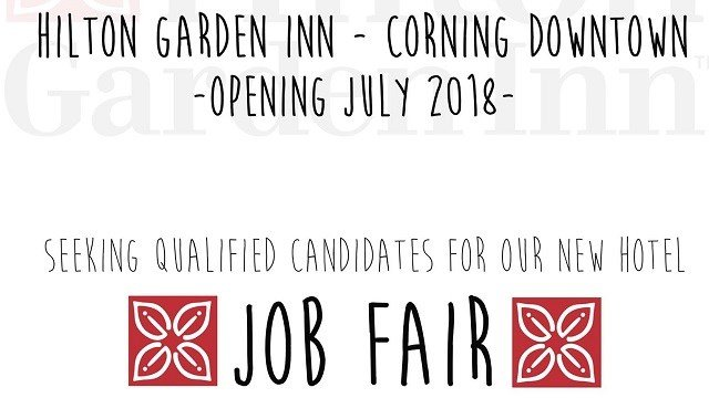 Corning, N.Y. (WENY)   If Youu0027re Looking For A Job, A New Hotel Set To Open  In Corning Could Have What Youu0027re Looking For. The Hilton Garden Inn ...