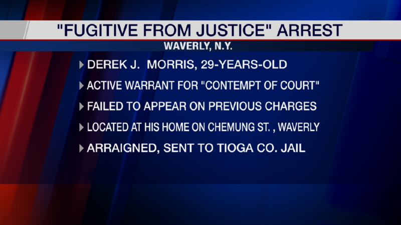 Weny News Fugitive From Justice Arrested In Waverly Ny