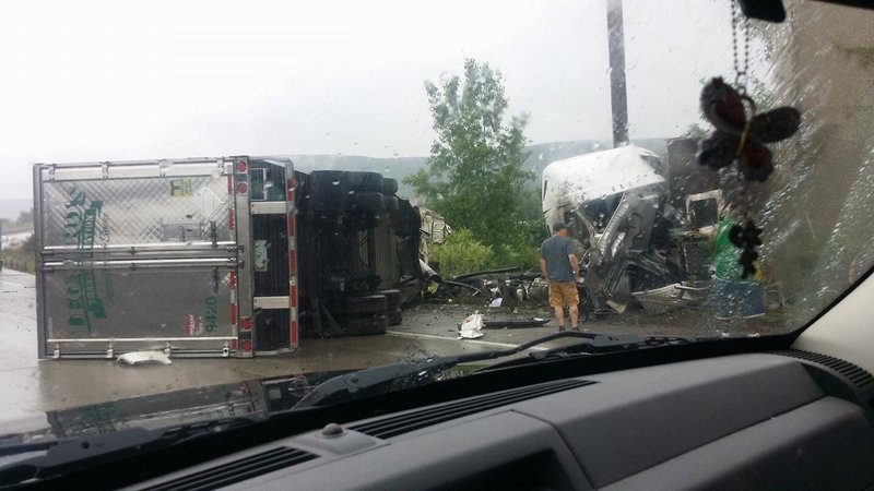 Moose Causes Tractor Trailer Crash on Interstate in Richmond