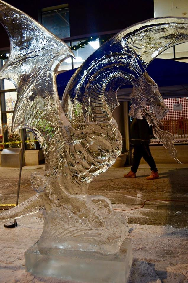 Ross Baisis' ice dragon took first place