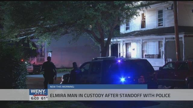 Man in custody after stand off with Elmira police - WENY News