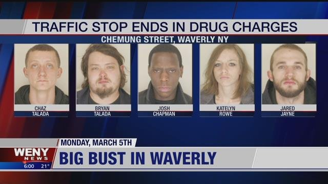 Waverly Traffic Stop Ends in Drug Arrests - WENY News