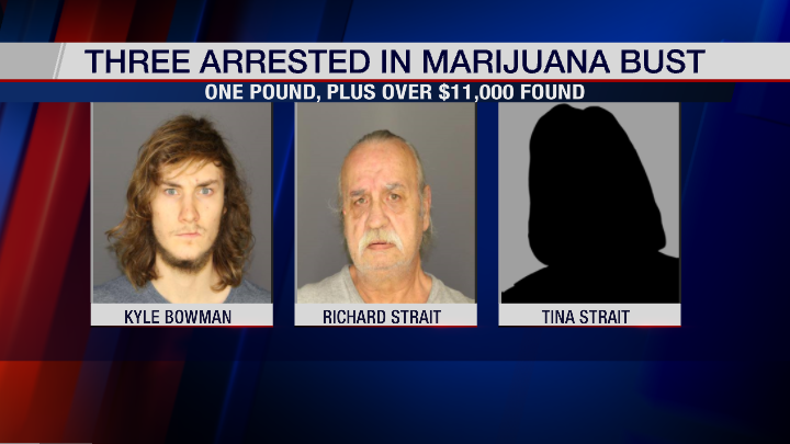 Three Arrested for Allegedly Possessing One Pound of Marijuana