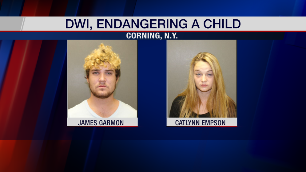 Corning Police arrest two for alleged DWI, endangering the