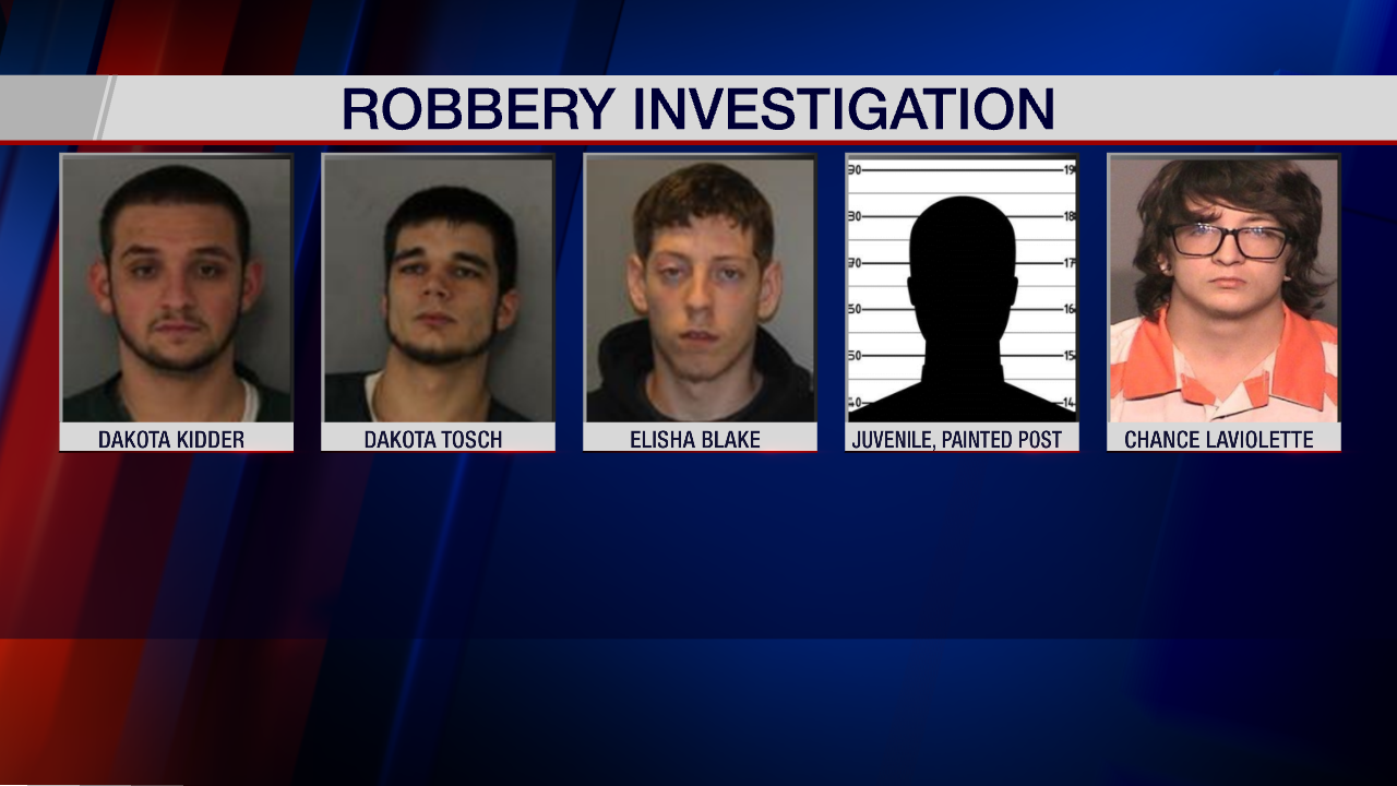 Five Arrested in Months-Long Robbery Investigation - WENY News