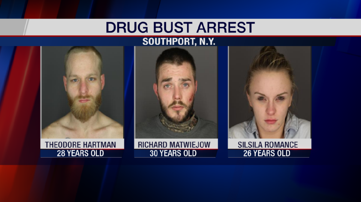 Drug bust in Southport leads to three arrests - WENY News