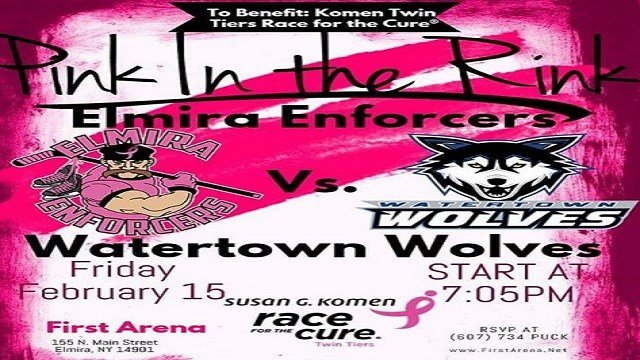 Elmira Enforcers To Host and Honor Breast Cancer Survivors Frida - WENY News b2478fbe5