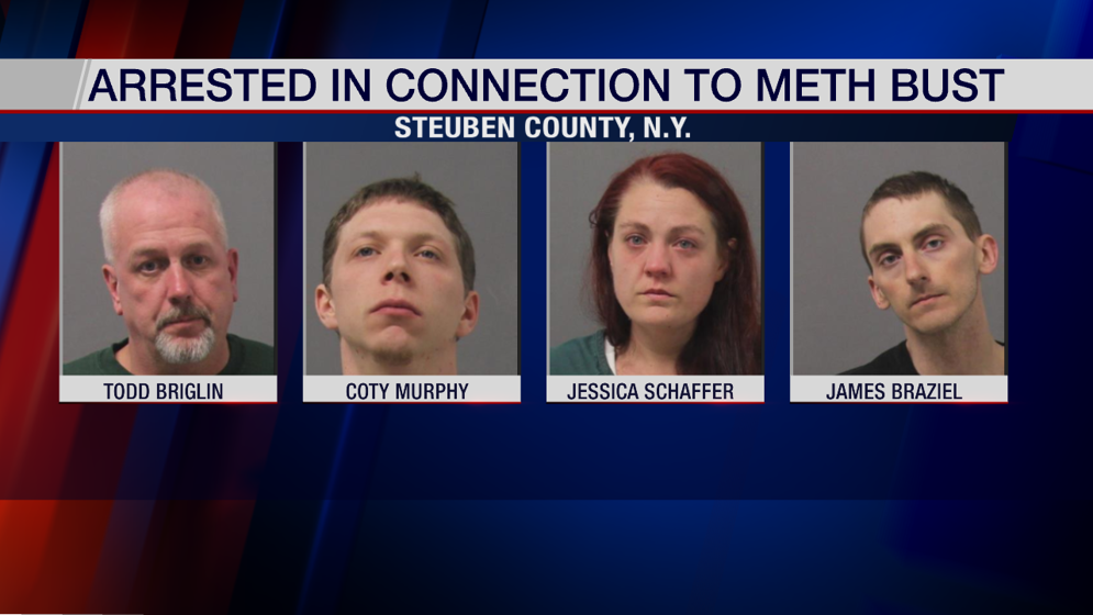 Four arrested in Steuben County meth bust - WENY News