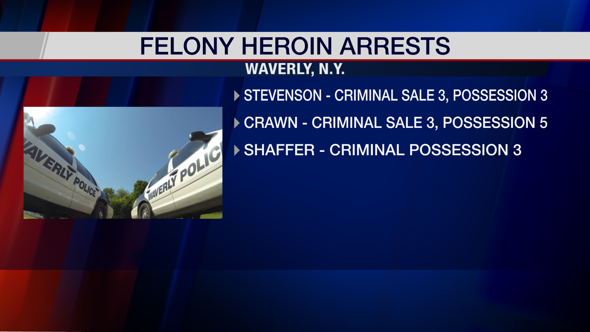 3 arrested following narcotics investigation in Waverly - WENY News