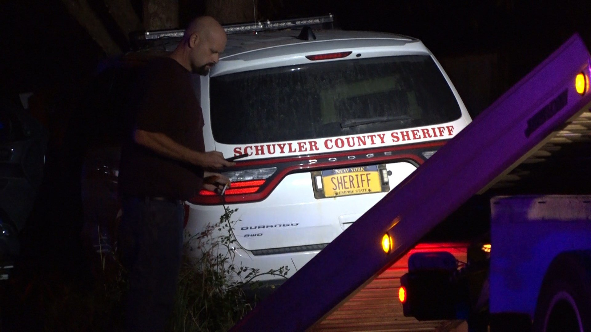 Schuyler Co. Sheriff's Office patrol car crashes during police chase